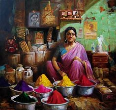 K N Ramachandran's Life of Color » Paintings and Art Gallery » Market