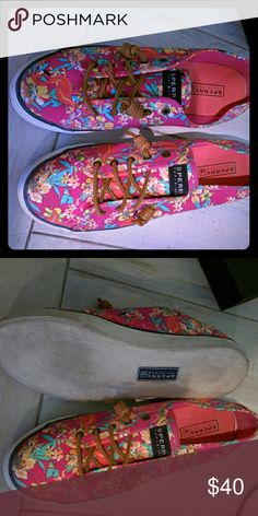 Tropical sperry top sider Beautiful tropical sperry, used 1 time, was a gift but too small:( Sperry Top-Sider Shoes Flats & Loafers