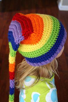 Rainbow Stocking Hat Elf Hat Gay Pride hat Gay marriage Niños Y Niñas  Animados 51efbfe9fa5