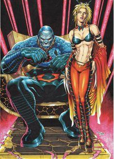 Darkseid and Supergirl