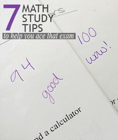 7 Math Study Tips to Help You Ace That Exam || Curiosity and Charm