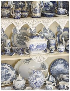 Blue Transferware Dishes