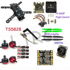 Upgrade Drone With Camera RC Plane QAV 250 PRO Carbon Fiber Mini Quadcopter Frame Flight Controller Emax Motor