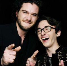 Game of Thrones Cast // Jon Snow & Bran Stark // Kit Harington and Isaac Hempstead