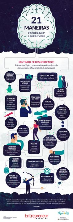Infográfico: 21 maneiras de encontrar a inspiração.
