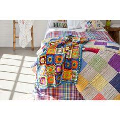 Crochet Checked Blanket | ZARA HOME Türkiye / Turkey