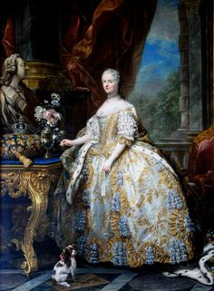 'Marie Leszczinska, Queen of France 1747 by Charles-André van Loo. Marie Leszczyńska was a Polish princess who married Louis XV of France. She became the longest serving Queen consort of France. Chateau Versailles, Palace Of Versailles, French History, Art History, Jean Antoine Watteau, French Royalty, Rococo Fashion, Women's Fashion, 18th Century Fashion
