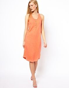 Selected Daze Tank Dress with Placket Detail