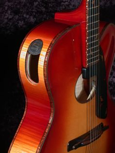 Autumn Oval Hole Archtop Guitar By Tom Bills #theartoflutherie #guitar