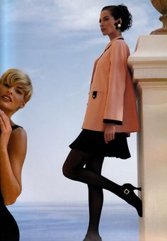 Christy Turlington  for  CHANEL,1991 w/ Linda Evangelista