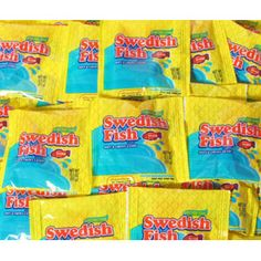 Soft & chewy Swedish Fish in treat size! Treat yourself and friends with one of these packets of delicious candies, the original Swedish Fish. Soft and gummy candy with great flavor shaped like a fish in individual packets. Online Candy Store, Swedish Fish, Snack Recipes, Snacks, Bulk Candy, Treat Yourself, Pop Tarts, Chips, Treats