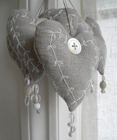 New linen hearts