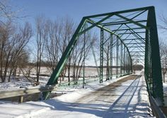 I love this bridge in Daleville, Indiana - iron truss made by Indiana Bridge Co.