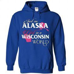 An ALASKA-WISCONSIN girl Pink02 - #fall hoodie #sudaderas sweatshirt. MORE INFO => https://www.sunfrog.com/States/An-ALASKA-2DWISCONSIN-girl-Pink02-RoyalBlue-Hoodie.html?68278