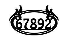 Paisley Metal Address Sign Metal House Number by MegaMetalDesigns