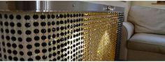 Mix and match your crystal colours to create a very personal radiator cover and style your friends will envy