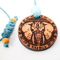 Elephant 1.5 Diameter Handcrafted Alder Wood Power Animal Pendant Elephant Spirit Animal, Your Spirit Animal, Power Animal, Gentle Giant, Gemstones, Pendant, Wood, Animals, Products