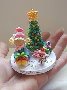 3D Quilled Christmas Tree, Snowman & Girl