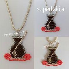 """236 Beğenme, 13 Yorum - Instagram'da Supertakilar (@supertakilar): """"Çay sevenler?... (Turkish Tea) Miyuki Çay Bardağı Kolye Designed by @supertakilar Kendi tasarımım. #miyuki #supertakilar #çay #cay #diy #handmade #elyapımı #kolye #necklace #handcrafted #elemeği #bardak #çaybardağı"""