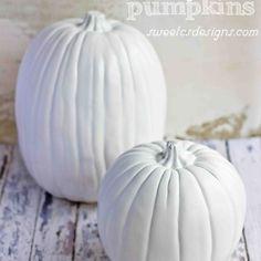 DIY Faux Milk Glass Pumpkins