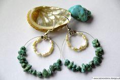 AugustLust Türkis Ohrringe Jewelry Art, Drop Earrings, How To Make, Creative Products, Chain, Nice Asses, Drop Earring