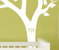 Personalized Tree and Owl Nursery Wall Decal for Baby in by slaps, $77.00