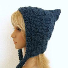 Accessoires de lutin bonnet - denim ou votre choix de couleur - femmes à la main par Sandy Designs côtières tricotés à la main
