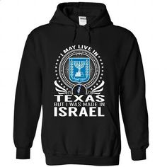 Live in Texas - Made in Israel - #striped shirt #casual shirts. BUY NOW => https://www.sunfrog.com/States/Live-in-Texas--Made-in-Israel-mhjneslhic-Black-Hoodie.html?60505