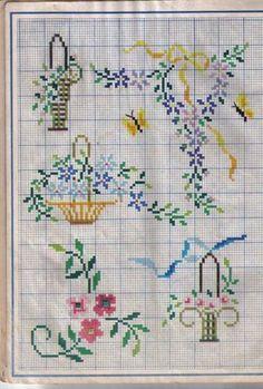 Mini Cross Stitch, Cross Stitch Borders, Cross Stitch Flowers, Cross Stitch Charts, Cross Stitch Designs, Cross Stitching, Cross Stitch Patterns, Vintage Cross Stitches, Easter Cross