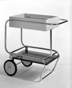 Brooklyn Museum: Decorative Arts: Beverage Cart_ Gilbert Rohde