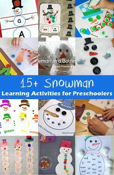 15 Snowman Learning Activities for Preschoolers