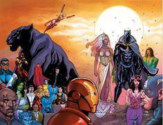 Black Panther Marvel Comics Wallpaper from Marvel. Comic Book Artists, Comic Book Characters, Marvel Characters, Comic Books Art, Comic Art, Black Panther Marvel, Black Panther Storm, Marvel Wallpaper, Cartoon Wallpaper