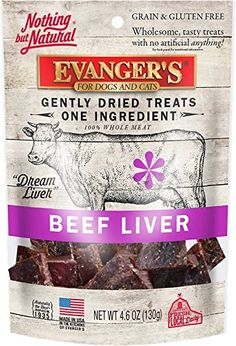 There& nothing more than pure beef liver! Because of the palatability and wholesomeness of these gently dried treats, they are excellent for finicky pets or pets with food sensitivities, as well as for use as a training reward or food mixer. Beef Liver, Freeze Drying, Cat Treats, Grain Free, Yummy Treats, Dog Cat, Grains, Frozen, Tasty