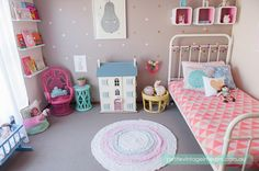 darling girls room with urban walls decals