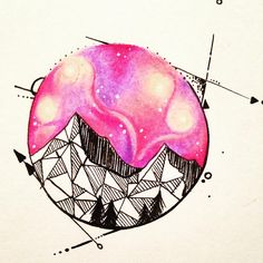 Geometric Galaxy mountain design