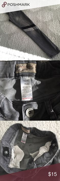 """NEXT Jeans - Girls EUC - Nextdirectusa Jeans.  Adjustable waist.  Listed as """"Girls"""" but could also fit Junior or woman depending on measurements.  Approximate measurements: waist: 14"""", rise: 9"""", length: 28 1/2"""", ankle opening: 4 1/2"""". Next Jeans"""