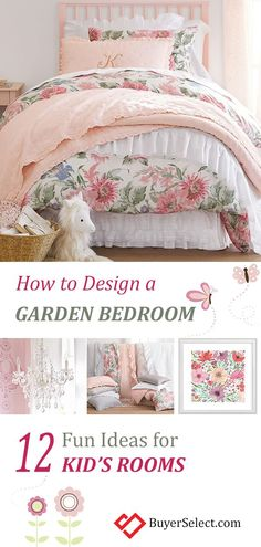 Kids Butterfly Garden Bedroom:What little girl wouldn't adore a pretty room filled with magical butterflies? Butterfly theme bedrooms are simple to create! Bedroom Themes, Girls Bedroom, Bedroom Ideas, Bedrooms, Girl Rooms, Little Girl Beds, Toddler Rooms, Toddler Girls, Baby Girls