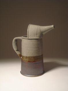 Stoneware Oil Can. $ 55.00, via Etsyshop cyrusthepotter