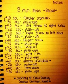 8 minute abbs (from Seattle Christian Cross Country) *running*