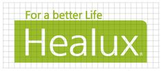 Healux logo with Grid