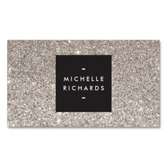 Glamorous Silver Glitter Modern Beauty Business Card. This great business card design is available for customization. All text style, colors, sizes can be modified to fit your needs. Just click the image to learn more!