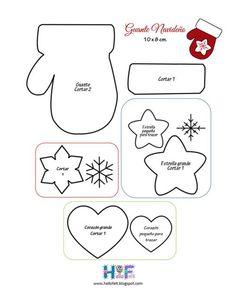 guantes navideños 2016 con moldes para imprimir