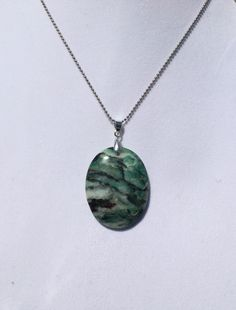 A personal favorite from my Etsy shop https://www.etsy.com/listing/233522059/green-jasper-gemstone-pendant-necklace