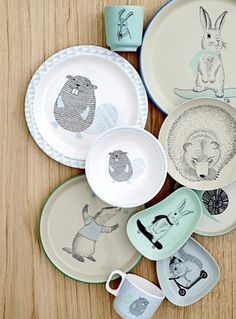 The Marius, Noah and Adelynn tableware from Bloomingville Mini