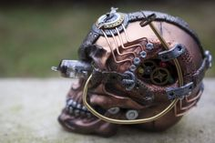 Steampunk Industrial Skull - Right Side by Devilish--Designs.deviantart.com