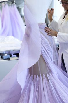 Gown Dress, Tulle Dress, African Origins, Weeding Dress, Lilac, Purple, Ralph And Russo, Fall Winter, Haute Couture