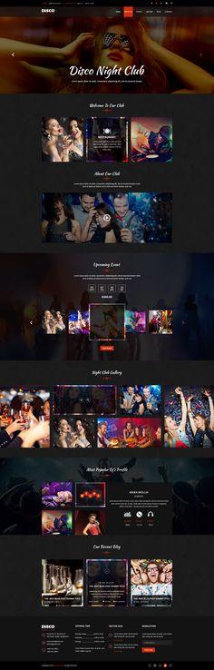 Disco Night Club - PSD Template #psd #party #dj • Download ➝ https://themeforest.net/item/disco-night-club-psd-template/18886072?ref=pxcr
