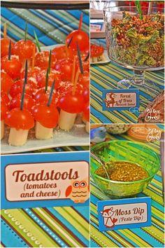 Woodland Party Food Ideas www.spaceshipsandlaserbeams.com