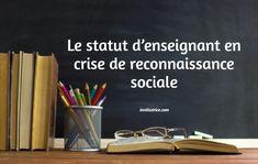 Le statut d'enseignant en crise de reconnaissance sociale Gratitude, Behavior, Learning