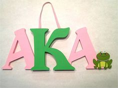 Alpha Kappa Alpha Sorority Sign by rosepierre on Etsy